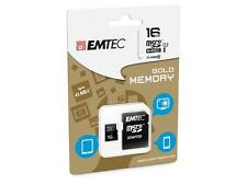 EMTEC Micro SD SDHC Carte mémoire Flash Memory Card 16GB Go Class 10 Pr Samsung