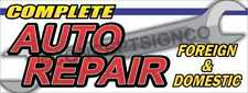 COMPLETE AUTO REPAIR BANNERS - ONE 8'x32' & ONE 8'x16' Custom Listing