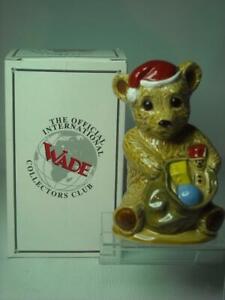Wade 1997 CHRISTMAS TEDDY BEAR Figurine Collectors Club + Box