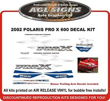 2002 2003 POLARIS 600 PRO X  Reproduction Decal Kit  700  800 also available