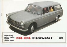 Peugeot 404 Estate & Station Wagon Brochure - 1969