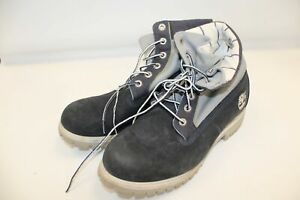 Mens TIMBERLAND Blue Suede Lace Up Boots Size UK 7.5 W