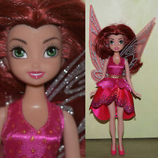 "2010 Jakks Pacific Disney Fairies 9.5"" ROSETTA DOLL w/ Dress Shoes & Wings NICE!"
