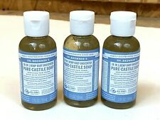 Dr Bronner's Bronners 18-In-1 Hemp Baby Pure-Castile Soap 2 oz Organic Lot Of 3