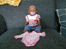 ZAPF CREATION ETHNIC BABY BORN DOLL WITH EXTRA OUTFIT & DUMMY