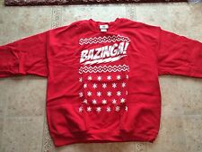 CBS The Big Bang Theory BAZINGA! UGLY Holiday Sweater BRAND NEW LARGE