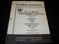 International Tel-A-Depth Conversion Package Manual For 240 Tractor