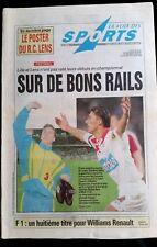 La voix des sports 12/8/1996; Komen/ Villeneuve/ Boltd/ Jalabert/ Meyrieu/ Hill