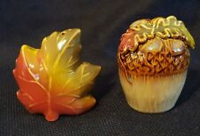 Oak Leaf and Acorn Salt and Pepper Shakers Set Fall Thanksgiving decor New