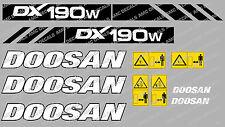 DOOSAN DX190W DIGGER DECAL STICKER SET