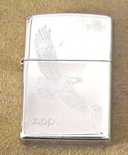 Nice Zippo Lighter Flying Eagle Brushed Chrome