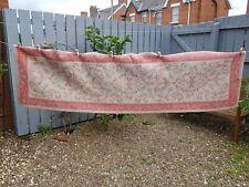 LAURA ASHLEY Pink/Cream Malmaison Runner Rug Cotton/Wool
