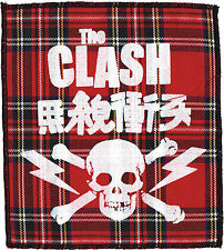 THE CLASH RED TARTAN PRINTED PATCH JOE STRUMMER ENGLISH PUNK ROCK SKULL JAPAN