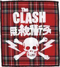 THE CLASH RED TARTAN PRINTED PATCH JOE STRUMMER ENGLISH PUNK ROCK SKULL JAPAN