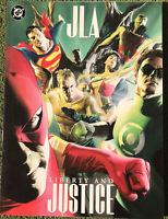 DC oversized comics Set Of 5 Alex Ross, Paul Dini, Mark Waid Bryan Hitch JLA