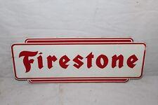 Vintage 1950's Firestone Tires Tire Gas Station Oil Metal Sign