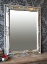 Spiegel Wandspiegel antik silber Barock BONNY 65 x 50 cm