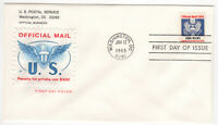 SSS: House of Farnam FDC 1983  $1 Stamp  US Government, Official Mail    #O132