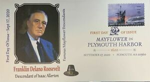 AFDCS 5524 Mayflower Plymouth Harbor FDR Roosevelt Descendant Isaac Allerton DCP