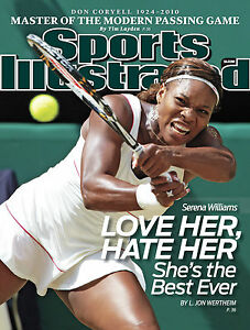 """SERENA WILLIAMS SPORTS ILLUSTRATED COVER POSTER """"THE BEST EVER"""""""