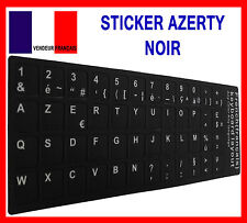 Sticker Autocollant AZERTY NOIR pour Touches de Clavier d'Ordinateur Portable