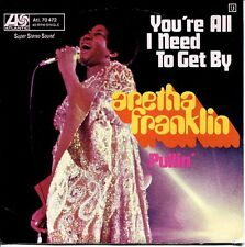 """ARETHA FRANKLIN - 7"""" You're All I Need To Get By / Pullin' (D,Atlantic,1971) M-"""