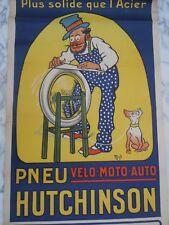 Affiche Mich hutchinson pneu velo moto auto affiches Gaillard Paris Amiens 1920