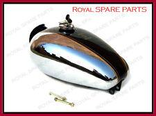 Royal Enfield Bullet Custom Deluxe Petrol Tank Chromed Black