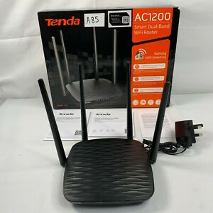 Tenda AC5 AC1200 Dual Band WiFi Router App Management Black - USED RRP £29 A85