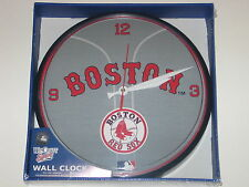 "Boston Red Sox 12"" Logo Round Wall Clock - Runs On One AA Battery"