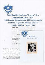 DUGGIE REID PORTSMOUTH 1946-1956 RARE ORIGINAL HAND SIGNED MAGAZINE CUTTING