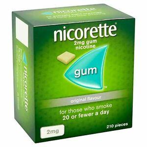 Nicorette ORIGINAL Flavour Gum 2MG 210 Pieces SHIP FROM USA