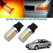 No Hyper Flash Amber 7440 T20 LED Rear Turn Signal Lights For 96-98 Honda Civic