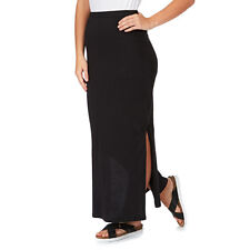 Ladies Casual, Office wear  Full Length  maxi skirt  with side split