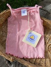 NUOVO Petit Bateau canotta bimba 6 mesi rosa