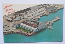 Vintage Atlantic City Postcard ~ Captain Starn's  Restaurant and Boating Center