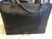 100% Authentic Black Studded Leather Bag Barneys NY Large Handbag Tote