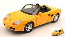 Porsche Boxster - YELLOW, Classic Metal Model Car, Motormax 1/24