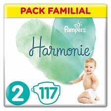 Pampers Harmonie Pack Familial Economie Couches Taille 2 (4-8 kg)117 couches