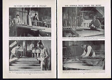 PICTURE STORY: Building a Piano - 1925 Prints