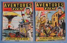 """Numéros 19 et 20 du Mensuel moyen format """" AVENTURES FILM""""/ Éditions ARTIMA 1953"""