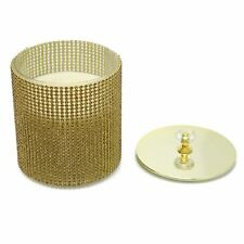 Gold Diamante Jewelled Glass Scented Candle Pot Holder - Fragrance Varies