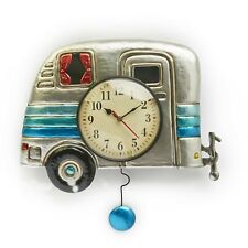 Camper Wall Clock with Vintage-Style Design, Battery-Powered Analog Dial
