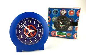 Horloge SVEGLIA Table BENETTON BY BULOVA Plastique Design Allemagne Vintage 90'S