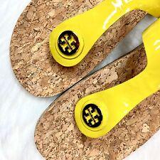 Tory Burch Size 10 Jane Cork Sandals Flip Flops Shoes In Banana Yellow