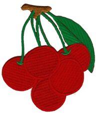 bc41 Kirschen Rot Frucht Obst Cherry Aufnäher Applikation Bügelbild 7,2 x 8,2 cm