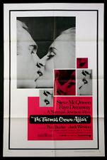 THOMAS CROWN AFFAIR STEVE MCQUEEN FAYE DUNAWAY 1968 1-SHEET NEAR MINT
