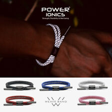 New Power Ionics Reflective Braided Rope Titanium Germanium Wristband Bracelet