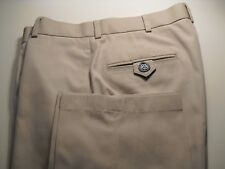 BROOKS BROTHERS COUNTRY CLUB FLAT FRONT COTTON PANTS KHAKI 32 33X30