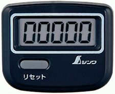 SHINWA Pedometer Health Management Step Walking Distance Digital 74132 Black